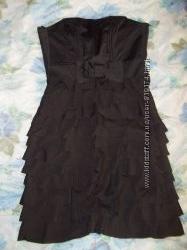 Чёрное брендовое платье H&M