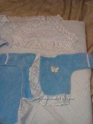 конверт-одеялко с шапочкой и тёплой распашонкой и уголком