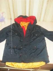 Куртка ветровка 2в1 на тонком синтепоне р. 110
