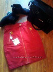 Красная юбка MOSCHINO