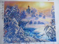Картина бисером Зима