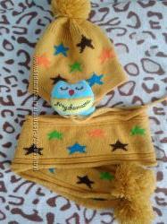 Продам комплект шапка и шарф