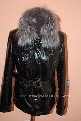 Кожаная куртка на меху из кролика