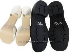 Новые парные наклейки на туфли для жениха и невесты