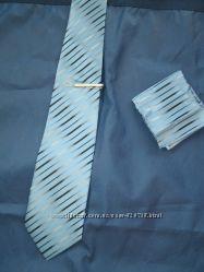 Набор галстук, платок, булавка для галстука