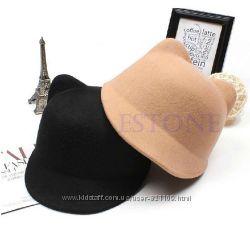 женские шляпки Кошачьи ушки