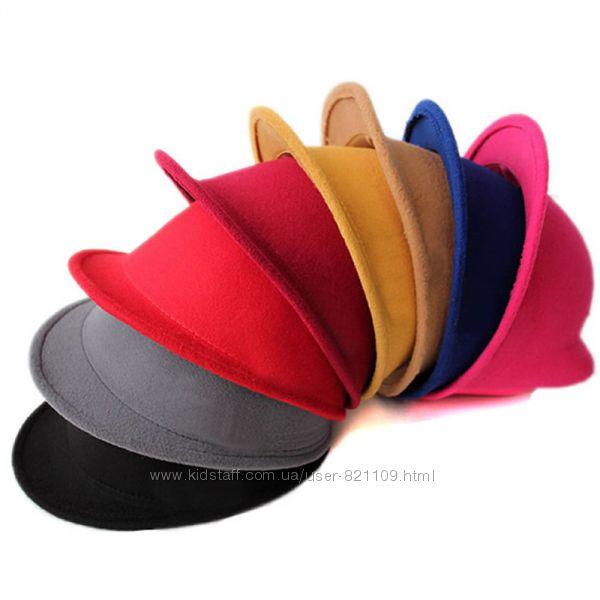 Детские фетровые шляпы Кошачьи ушки