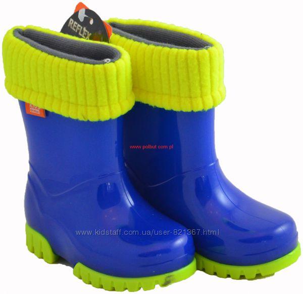 Резиновые сапоги DEMAR  Twister Флуо синие в наличии
