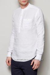 Рубашка из льна, одежда для поного и спортивного мужчины из льна