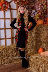 Платье модель вышиванка