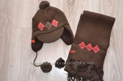 Зимняя шапка, варежки и шарф Mariquita, р. 42, 44, Польша