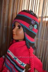 Зимняя шапка и шарф с варежками Mariquita, р. 42-48, Польша