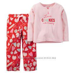 Флисовая пижама carters 2t милейшей расцветки