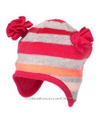 Флисовая шапка на хлопковой подкладке crazy8 2-3г
