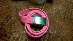 Узкие пояса розовый и серебристый
