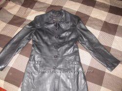 Кожаный женский пиджак S