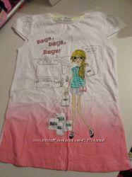 Продам новые футболки на девочку 7-8 лет NEXT , ZARA