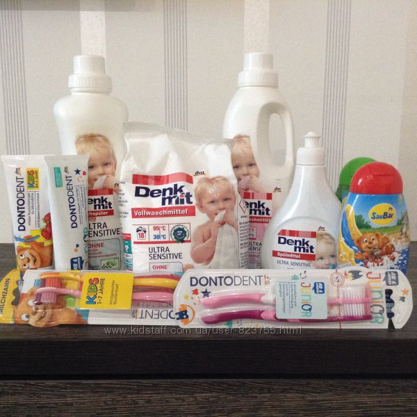 Дитячі шампуни, зубні пасти, порошки Denkmit, Balea