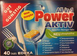 Таблетки для посудомийних машин G&G All-in-1 Power Aktiv, Німеччина