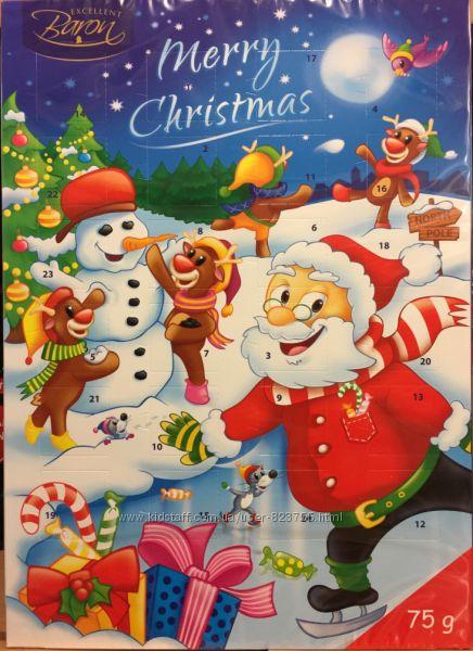 Цукерки адвент-календар новорічні подарунки