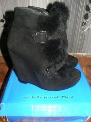натуральные ботиночки с натуральным мехом