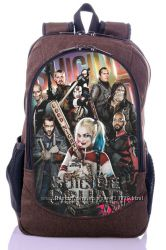 Отряд самоубийц Suicide Squad рюкзак принт 3Д городской школьный портфель