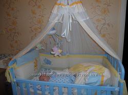 Кроватка Micuna Испания нежно голубого цвета