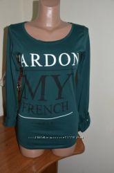 классная кофта-футболка с длинным рукавом фирмы Only приятная к телу, класс