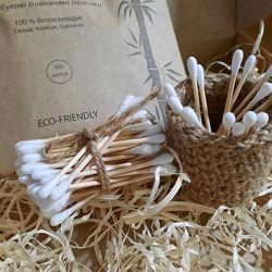 Бамбукові вушні палички 100 шт. в крафтовому конверті