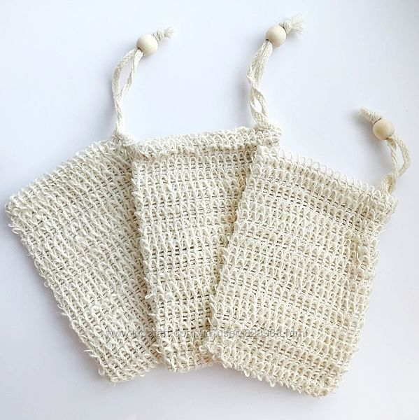 Мочалка из сизаля, мешочек, натуральная, эко