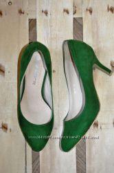 Шикарные изумрудные туфли 23, 2 см стелька