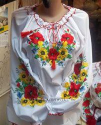 Вышиванка женская Букет Цветов рр 50-58