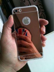 Зеркальный Силиконовий Чехол iPhone 55s66s