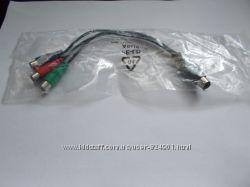 Кабель, переходник S-video 7 pin - 3 RCA тюльпаны ASUS новый