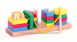 Пирамидки шнуровки логика геомерика 3 вида
