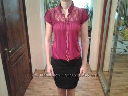 красивая блузка кофточка с гипюровой спинкой