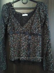 кофта кофточка блузка в цветочный принт