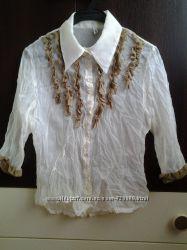 красивая белая летняя легкая блузка блузочка