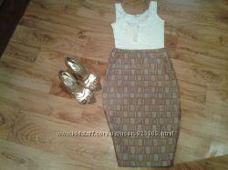 актуальная стильная миди юбка