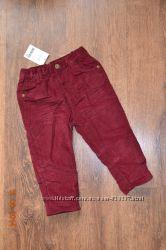 Вельветовые штаны на подкладке 9-12мес NEXT