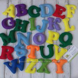 Английский алфавит. Буквы из фетра