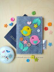 Обложки на паспорт, чехлы из фетра  by UliTo4ka