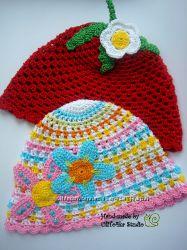 Вязаные шапки, шапочки и др. ручная работа by UliTo4ka