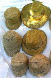 Шляпы, керки из рогозы и соломы