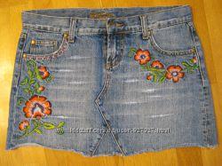 Фирменные джинсовые юбки мини