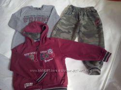 Костюмы теплые, регланы, футболки и штаны на 3-4 года