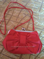 сумочка клатч, Джинсова косметичка з бантом