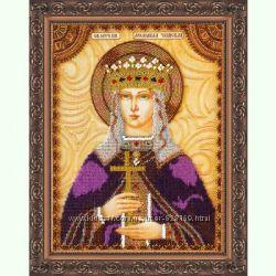 Наборы для вышивки бисером на художественном холсте Икона Святая Людмила