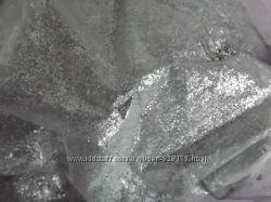 Глиттеры серебро , крупный и мелкий