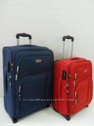 Чемоданы 2-х колесные тканевые легкие   Suitcase .